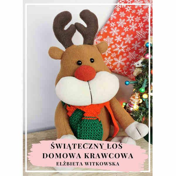 ebook świąteczny łoś maskotka pluszak
