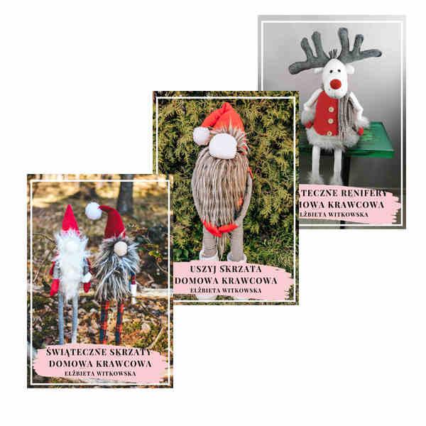 pakiet świateczny łoś świąteczne skrzaty uszyj skrzata